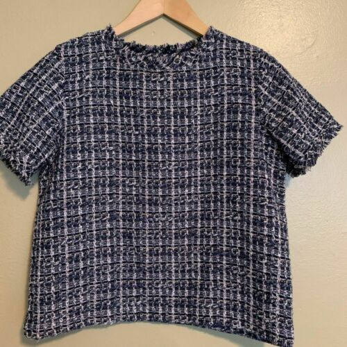Ann Taylor   Boxy Tweed Top   Small Petite