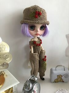 Set 2 pcs Dress Hat  for doll Neo Blythe Pullip Obitsu azon clothes knitt