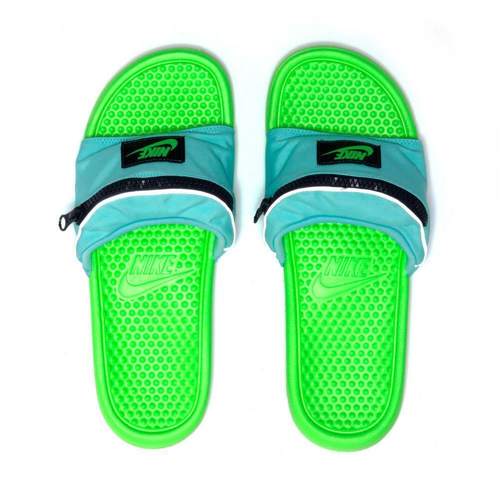 Nike MEN'S Benassi JDI FANNY PACK Aurora Green Green Strike SIZE 10 BRAND NEW