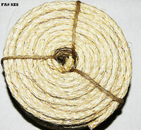 """Natural Unoiled Sisal Rope 10' Long 1/4"""" Parts for Bird Parrot Toys"""
