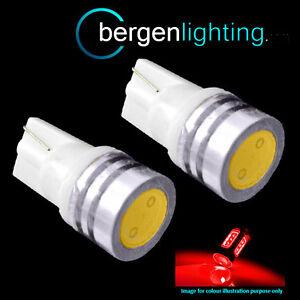 501 5 SMD LED HIGH LEVEL BRAKE BULBS WHITE XENON T10 W5W 194 WEDGE LAMP LIGHT X2