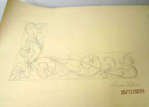 Art Handsigniert In Pain Rosina Zellner Zeichnung-ein Ornament O.ä.