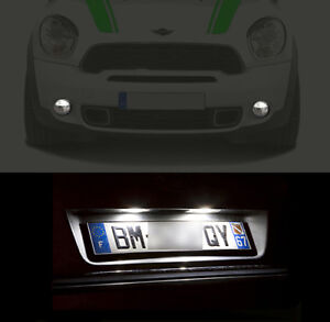 4-ampoules-a-LED-veilleuses-feux-de-plaque-Blanc-pour-Mini-Cooper-R56-R57
