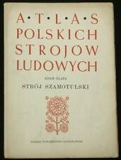 BOOK ATLAS OF POLISH FOLK COSTUME Szamotulski regional ethnic dress fashion art