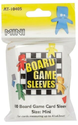 100 Board Games Sleeves Mini 41x63mm American Variant Clear Kartenhüllen AT10405