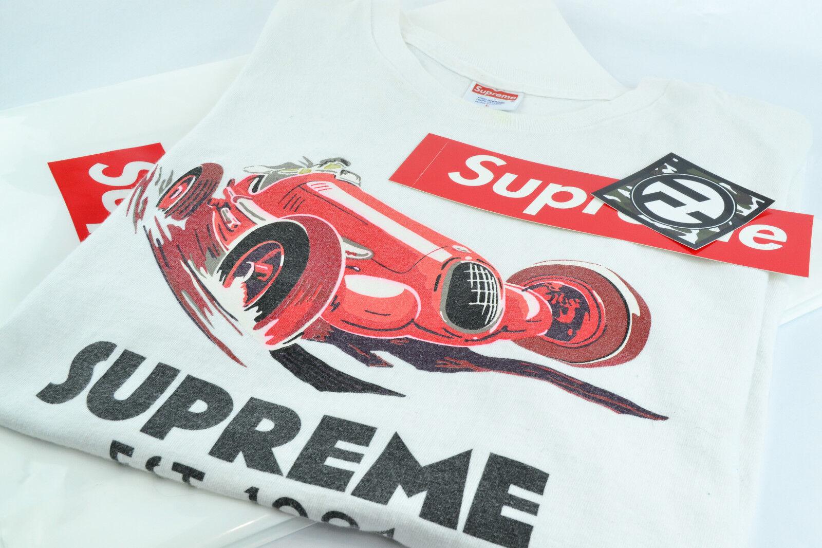 Supreme Monaco Grand Prix Racer T-Shirt Weiß Large F/W 2008