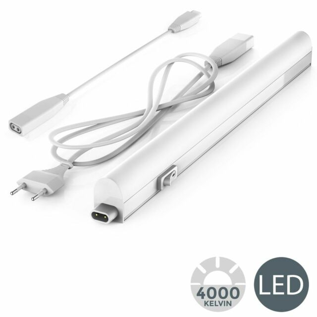 Réglette LED 220V barre lumineuse éclairage élément cuisine blanc 313mm 4W 400lm