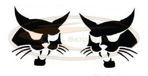 Bobcat Head Arm Decal Sticker Kit Word Skid Steer Loader 751 753 763 773 7753