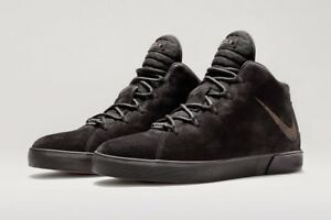 ea7445793b1 Nike Lebron XII NSW Lifestyle QS 716417-002 Black Red Suede LS Men s ...