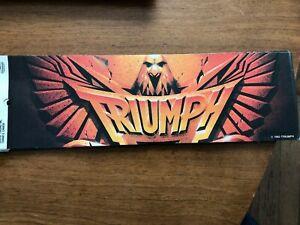 Triumph-Bumper-Sticker-NEW-Original-1983-11-034-x31-2-034-Rik-Emmit-Canada-Band