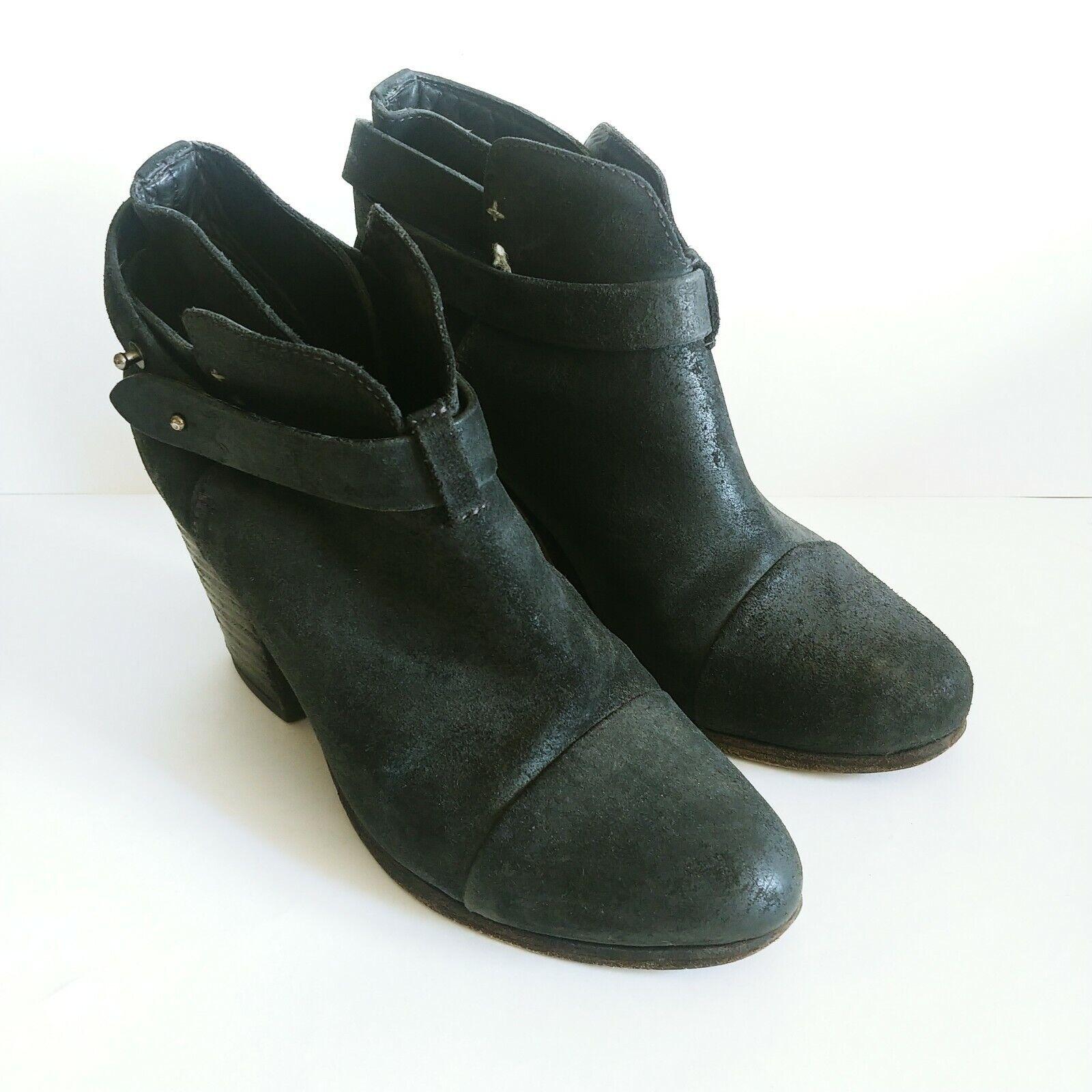 Rag & Bone Women's 39 Eur/9 US Harrow Suede Ankle Booties Boots Black