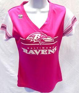 Details about Baltimore Ravens Football Women's Draft Me Jersey Pink