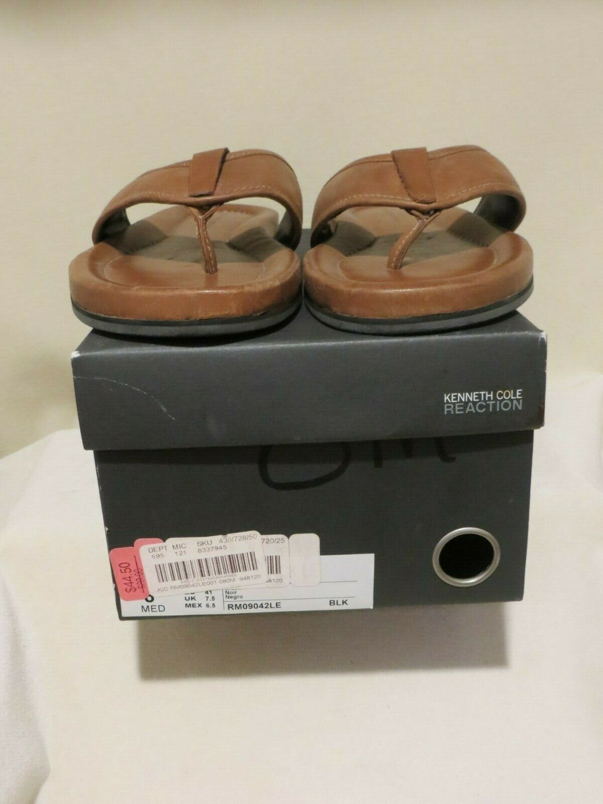 NIB Kenneth Cole Reaction Men's Leather Sandals in Size 7M