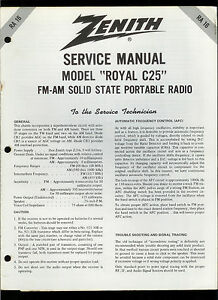 Zenith Tr Tor Radio Service Manuals. Rare Original Factory Zenith Royal 44 Fm Am Tr Tor Radio Service Rh Picclick Wave Mag Model Numbers. Wiring. Zenith Transistor Radio Schematics At Scoala.co