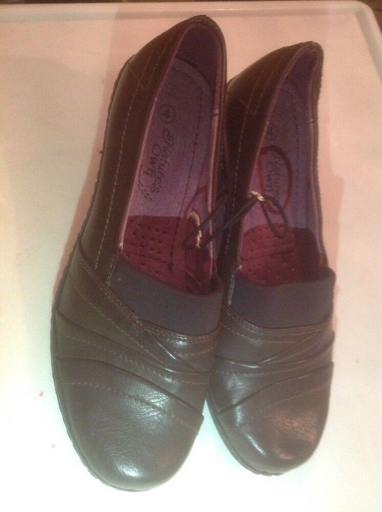 Ladies Brown Natures Own Small Block Heel Size 4 New Shop Clearance