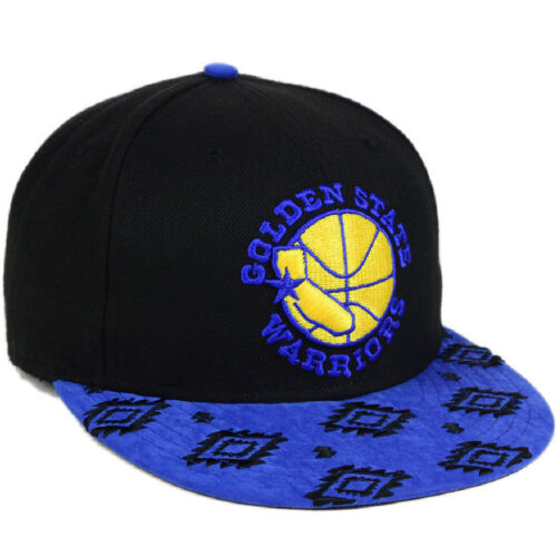 best service e9e8c 70ee0 4 of 5 Golden State Warriors New Era Sueded Print Visor HWC 9Fifty Snapback  Hat Cap NEW