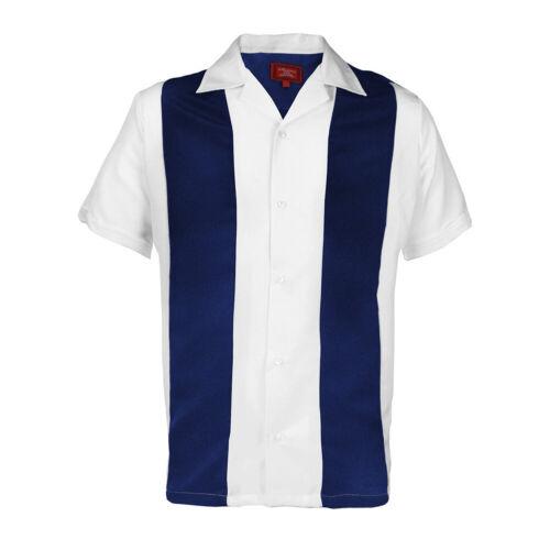 Maximos Homme Rétro Classique deux tons guayareba bowling shirt Charlie Sheen