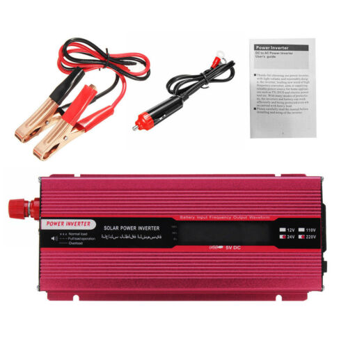 6000W Car Power Inverter DC 12V//24V to AC 110V//220V Modified Sine Wave Converter