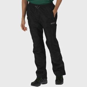Regatta-Mens-Chandler-III-Overtrousers-Black-Outdoors-Waterproof
