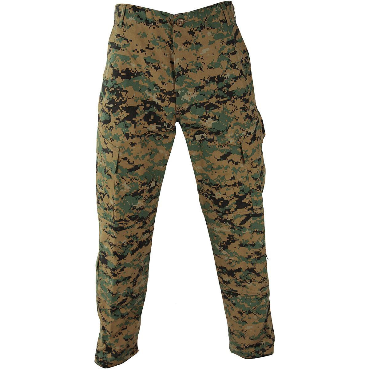 Propper ACU Trousers Mens Polycotton Ripstop Uniform Cargo Digital Woodland Camo