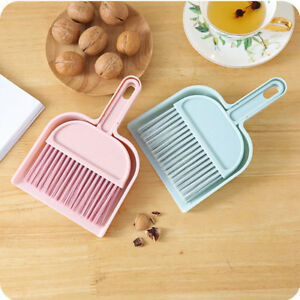 Details about Mini Desktop Draw Dining Table Sofa Sweep Cleaning Brush  Small Broom Dustpan UK