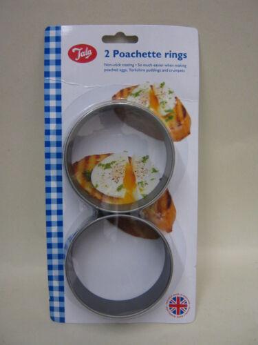 Neuf Tala METAL poachette Egg Crumpet Pudding Anneaux Pk x 2 9322