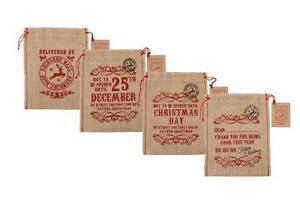 Vintage-Chic-amp-Shabby-Hessian-Jute-Christmas-Present-Gift-Bag-Sack-Stocking-Xmas