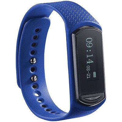 newgen medicals Wechsel-Armband für Fitness-Tracker FBT-40.HR, blau