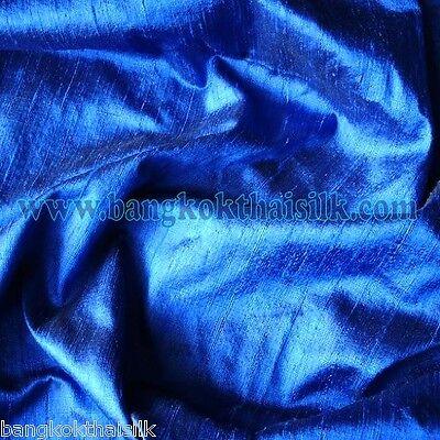 ROYAL BLUE 100% PURE SILK DUPIONI FABRIC BTY FORMAL WEDDING DRESS DRAPE SUIT