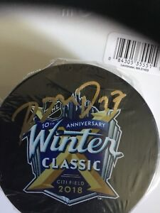 RYAN-MCDONAGH-SIGNED-2018-WINTER-CLASSIC-PUCK-NY-RANGERS-steiner-coa