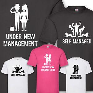 89bf4189166916 Das Bild wird geladen T-Shirt-JGA-Under-New-Management-Hangover -Junggesellenabschied-
