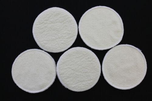 10 Stück Stilleinlagen BW-Frottee//Wolle//Bourette Seide 3-lagig 13,2 cm NEU