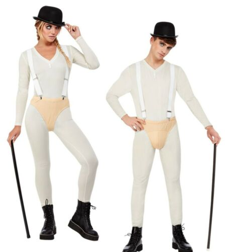 Cult Classic Costume Clockwork Orange Adults Fancy Dress Droog Ladies Mens