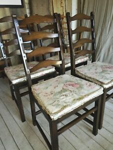 Details About 4 Ercol Ladderback Penn Dining Chairs With Cushions