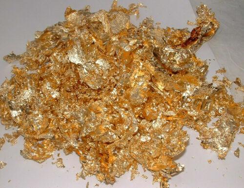 GOLD LEAF FLAKE Foil Paper Gilding Metalic Large Big Transfer Bulk Wholesale Art
