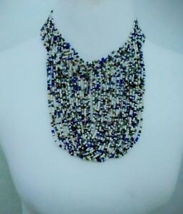 African-multicolored-Waterfall-handmade-Beaded-Necklace