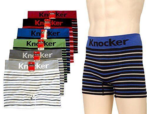 6 pk Men`s Seamless Athletic Compression Boxer Briefs Underwear One Size-MS044
