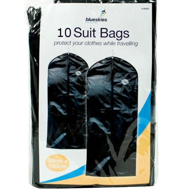 10 X Zip Up Hanging Suit Dress Coat Garment Bag Clothes Cover Protector