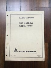 Allis Chalmers Wkt Disc Harrow Parts Catalog 1969 Form 9001349