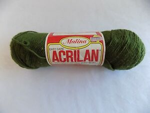 Leaf-Green-Malina-Acrilian-Yarn-4-oz-Skein-100-Acrylic-Knitting-Worsted-Wt