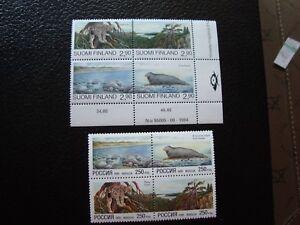 Briefmarken-Yvert-Und-Tellier-N-Russland-6106-A-6109-Finnland-1258-1261-N-Tu