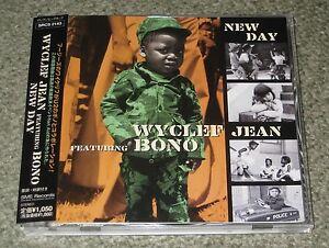 SALE-BONO-of-U2-Japan-PROMO-CD-single-OBI-Wyclef-Jean-NEW-DAY-other-U2-listed