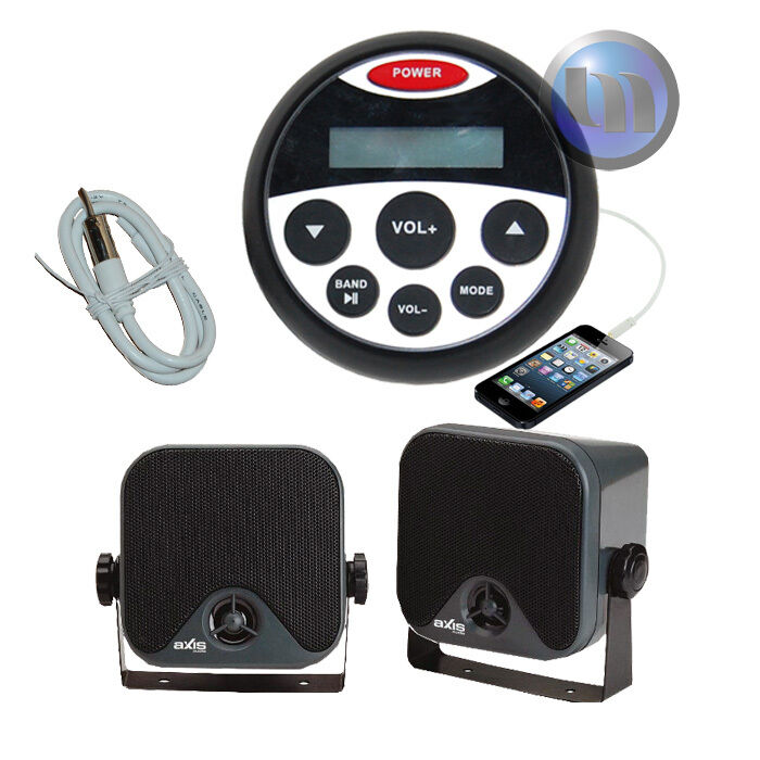 Marine blueetooth Audio Kit MP3 USB AM FM Ipod NEW Radio Boat Stereo Compact