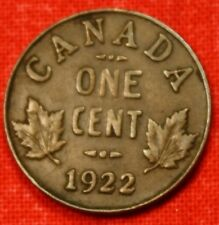 1922 CANADA SMALL CENT COLLECTOR COIN CHECK OUT STORE CASC25
