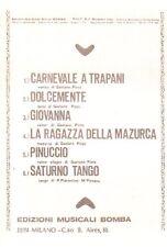 sc12 Spartito Ed. Musicali Bomba anno 2 -Nov. 1982 -Carnevale a Trapani-Giovanna