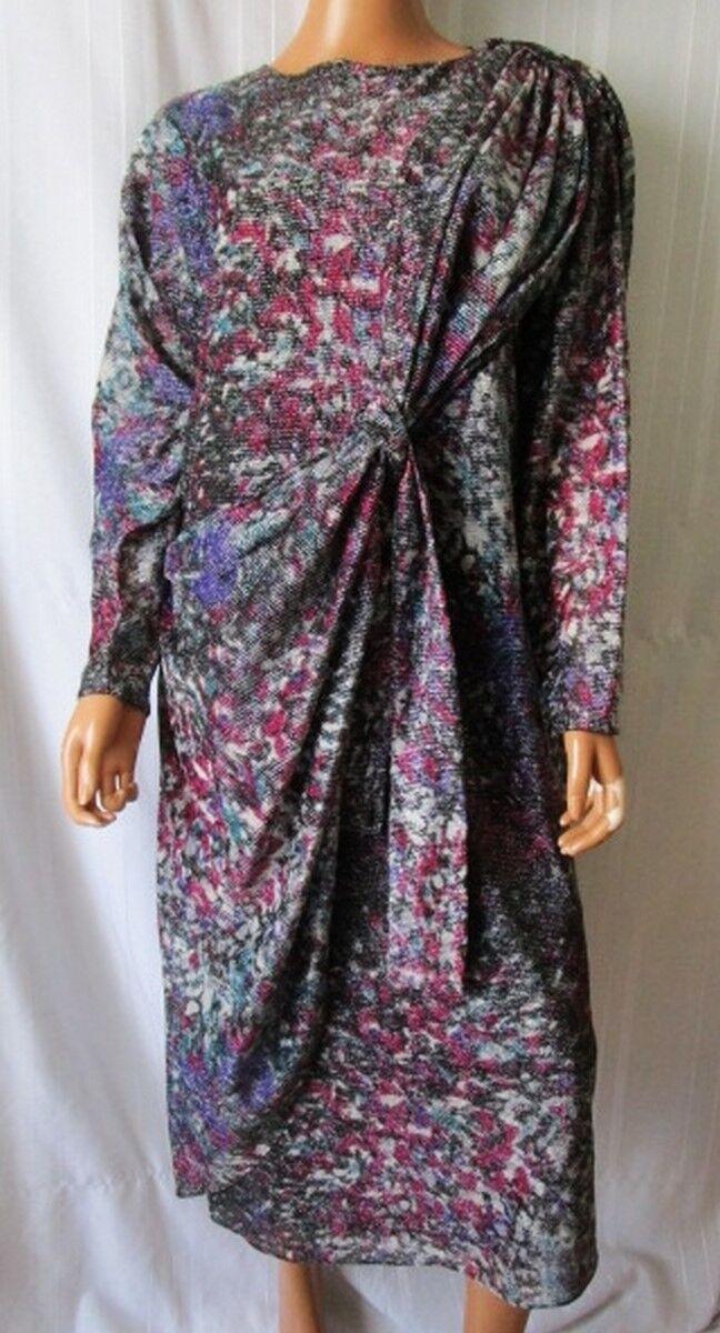 MADAME DAVID ABITO Vestito Dress Vintage TG.42 46 Fantasia Multicolre Cod.AS