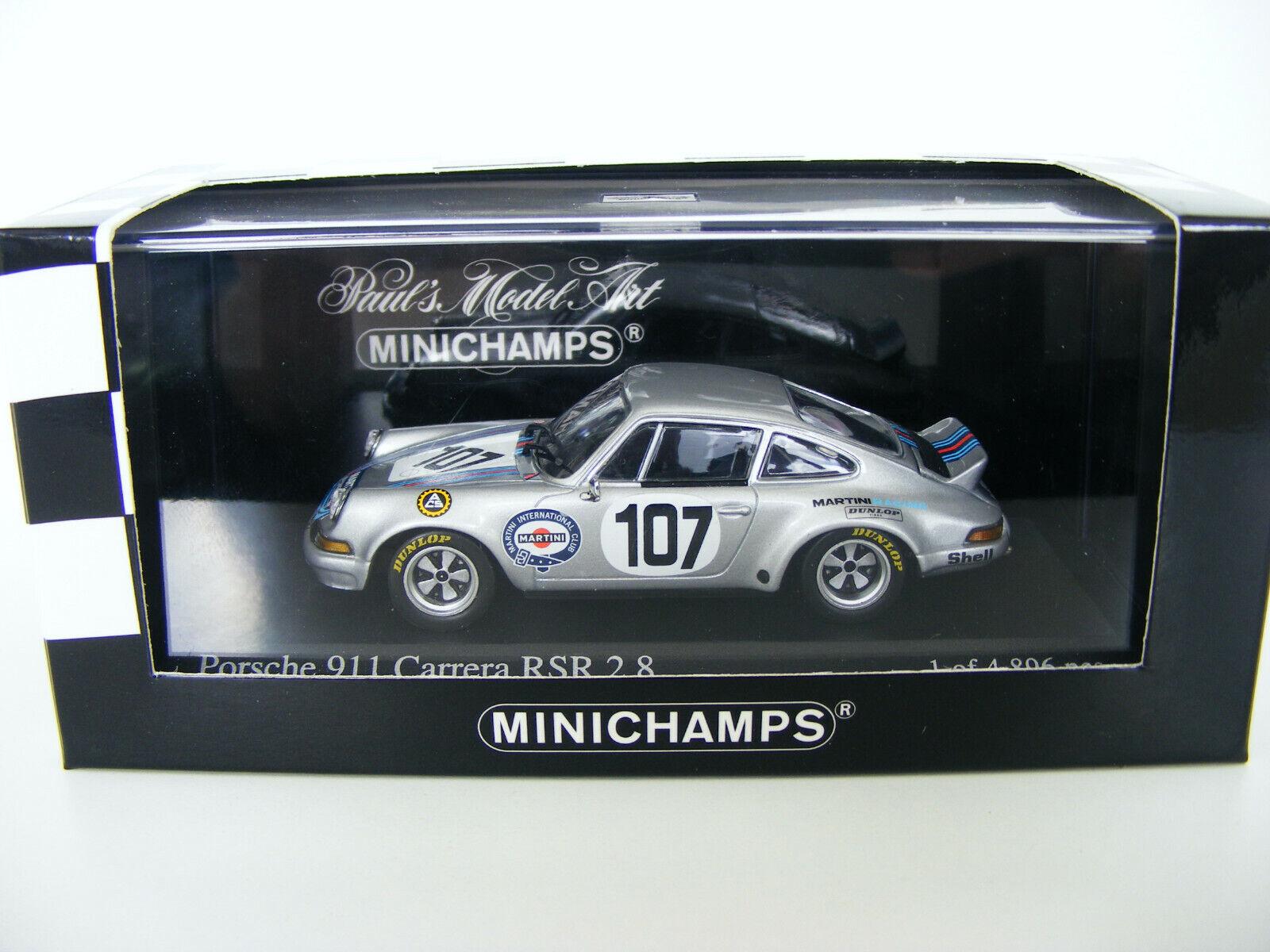 1 43 Porsche 911 Carrera RSR 2,8 Martini Targa Florio 1973 Minichamps 400736907