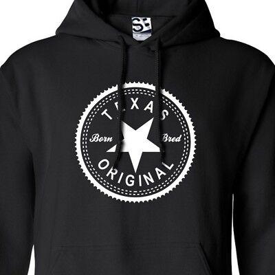 Texas Original Inverse HOODIE - Hooded Born & Bred in Sweatshirt - All Colors