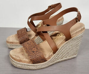 5858dc3a850 Salvatore Ferragamo 'Gioela' Wedge Sandal Palissandro (Brown) Womens ...