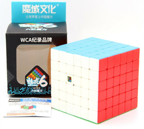 Zauberwürfel 6x6 MoYu Meilong stickerless Original speedcube magic cube brandneu